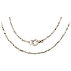 """14"""" Art Deco Platinum Fancy-Link Choker Necklace, (9.6g)"""