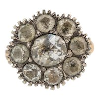 Georgian 15ct Gold Paste Cluster Ring