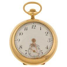"Antique Swiss Decorative ""Birds in Flight"" Diamond Pocket Watch"