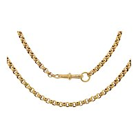 """18"""" Antique 9ct Gold Faceted Belcher Chain, 15g"""