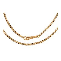 """16.5"""" Antique 9ct Gold Faceted Belcher Chain, 14.2g"""