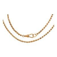 "18"" Victorian 9ct Gold Tulip Link Guard Chain (12.2g), Antique Dog-Clip"