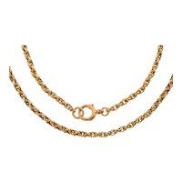 "15"" Antique 9ct Gold Fancy Choker Chain, 10g"