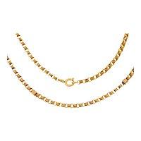 """20"""" Antique 15ct Gold Fancy Textured Belcher Chain, 10.4g"""