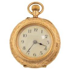 Antique 14ct Gold Decorative Enamel Pocket Watch