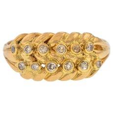 18ct Gold Diamond Keeper Ring