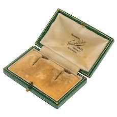 Antique Green Earring Jewellery Box