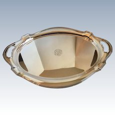 Antique Gorham Plymouth Sterling Silver Large Tray 25x18 Inches 3408 Grams 121.7 Ounces