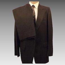 70's Harve Benard Men's Wool Suit in Gray Size 42 R