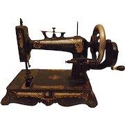 Antique New Home Lady Washington Hand Crank Sewing Machine