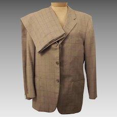 60's Vintage Langrock Princeton Gray Wool Men's Suit Size 40