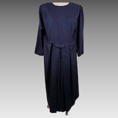 Vintage Original Lancaster Co Blue Amish Summer Dress Apron & Slip