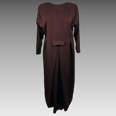 Vintage Original Lancaster Co Brown Amish Winter Dress Apron Slip