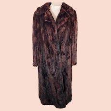 50's Full Length Red Mink Fur Coat