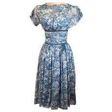 50's Vintage Rockabilly Swing Dress by R K Originals
