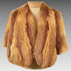 50's Natural Red Fox Fur Cape or Shawl