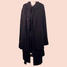1900's Victorian Inverness / Ulster Men's Wool Cape Coat