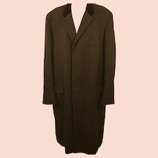 60's Barron Anderson Men's Wool Overcoat