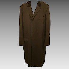 60's Vintage Barron Anderson Men's Wool Top Coat Overcoat