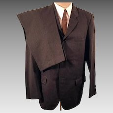 50s Men's Three Button Wool Suit by Sears Roebuck