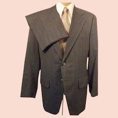 60s Clipper Craft Steel Blue Men's Suit