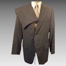 60s Vintage Steel Blue Men's Wedding Suit by Clipper Craft