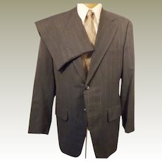 60s Vintage Steel Blue Men's Wedding Suit by Clipper Craft