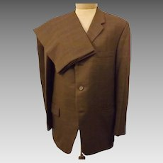 60's Vintage Langrock Princeton Brown Wool Men's Suit