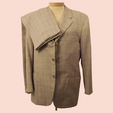 60s Mens Suit Langrock Ivy League Gray Check Suit