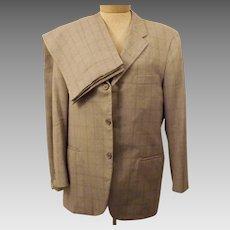 Vintage 60s Mens Suit Langrock Ivy League Gray Check Suit