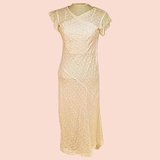 30s Handmade Pink Evening Dress or Party Dress