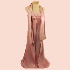 Pink Metallic Spaghetti Strap Shimmer Evening Dress
