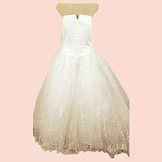 Michaelangelo Strapless Princess Wedding Dress