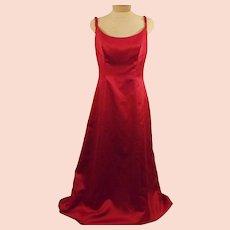 Bill Levkoff Red Sleeveless Evening Gown