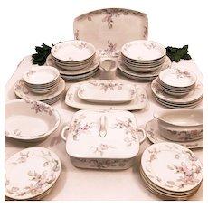 40's Czech Fine China Dinnerware Set for 6 / 8 Epiag Aich Pastelle