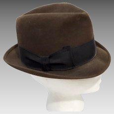 50's Rare Pilgrim Imported Fur Felt Fedora Trilby Hat