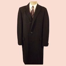 60's Men's Botany 500 Daroff Gray Tweed Overcoat