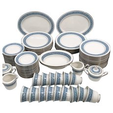 Noritake Ponchartrain 7024 Fine China Set for 16 86 pcs