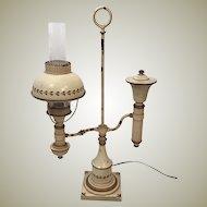 30's Original Toleware Student Desk Lamp