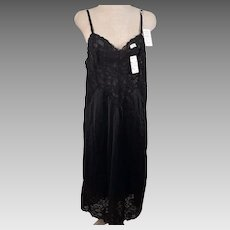 d3162417fc55 Vintage Vanity Fair Antron III Tricot Black Full Slip Size 34