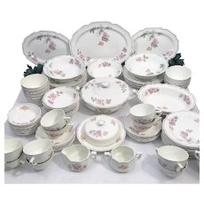 Rare Mount Clemens Pottery China Dinnerware Set for 12 - 94 Total Pieces