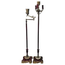 Pair of 1930's Rembrandt Solid Brass Mogul Floor Lamps