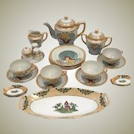 HB Japan Lusterware Japanese Tea Pot Lunch Set for 4