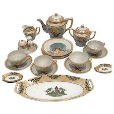 HB Japan Lusterware Japanese Tea Pot Lunch Set for 4