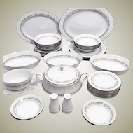 Noritake Trilby Fine China Dinnerware Set w Hostess Pieces