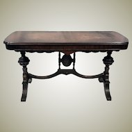 Victorian Inlaid Writing Desk or Antique Victorian Table
