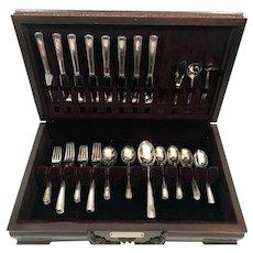1940 R Wallace Carillon Silver Plate Flatware Set for 8 Orig Box