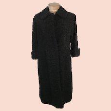 40's Astrakhan Persian Lamb Full Length Coat