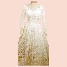 70's Alfred Angelo Original Long Sleeve Wedding Dress