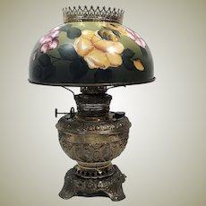 Huge 1890's Victorian Juno Brass Parlor Light
